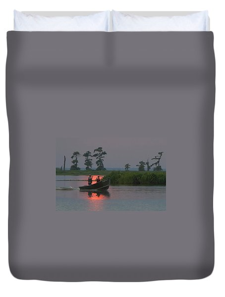 Time With Dad Duvet Cover