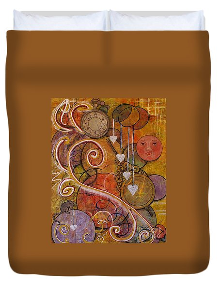 Duvet Cover featuring the painting Timeless Love by Jane Chesnut