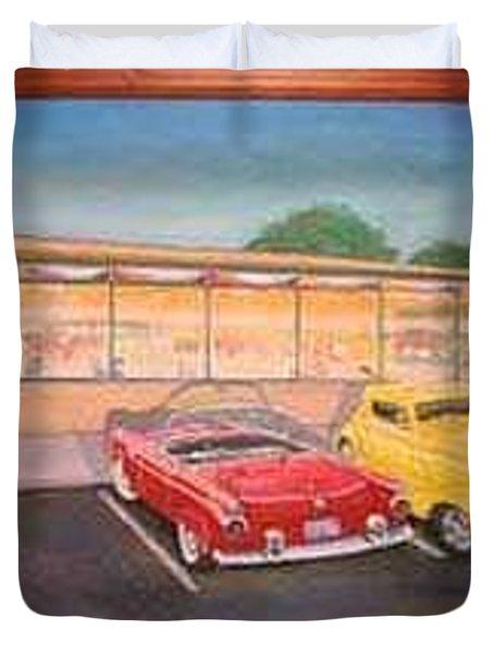 Times Past Diner Duvet Cover by Rick Huotari