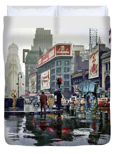 Times Square 1943 Reloaded Duvet Cover