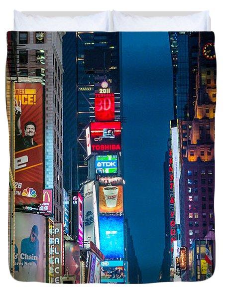 Times Square I Duvet Cover