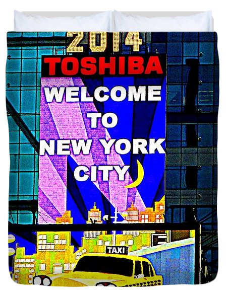 Times Square New Years Eve Ball Duvet Cover by Ed Weidman