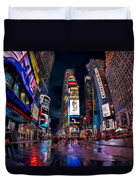 Times Square New York City The City That Never Sleeps Duvet Cover