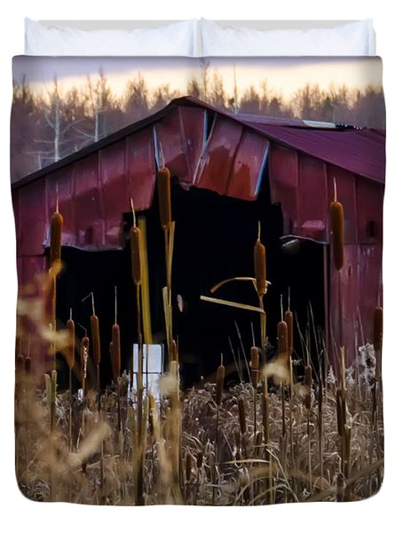 Tin Roof Rusted Duvet Cover by Bill Cannon