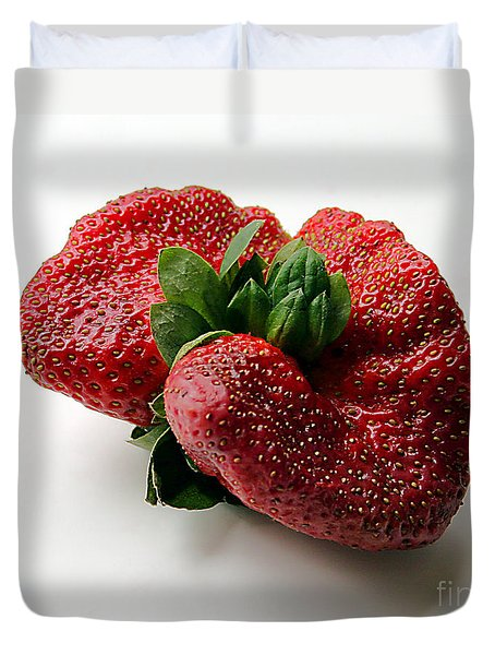Tina's Strawberry Duvet Cover