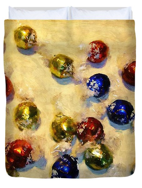 Tinfoiled Truffles Duvet Cover by RC deWinter