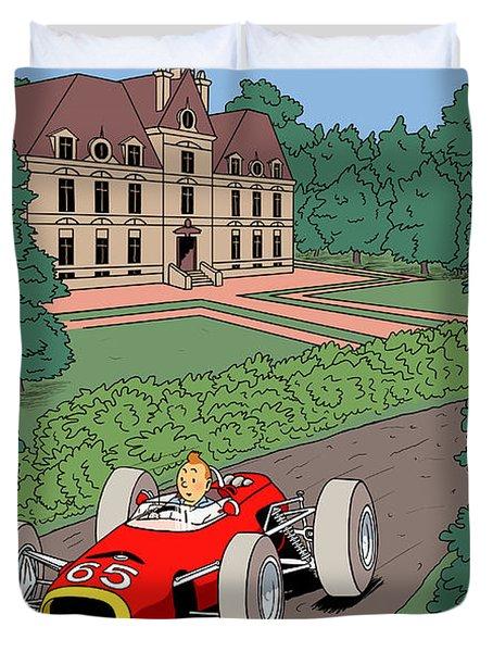 Tintin Grand Prix De Moulinsart 1965  Duvet Cover