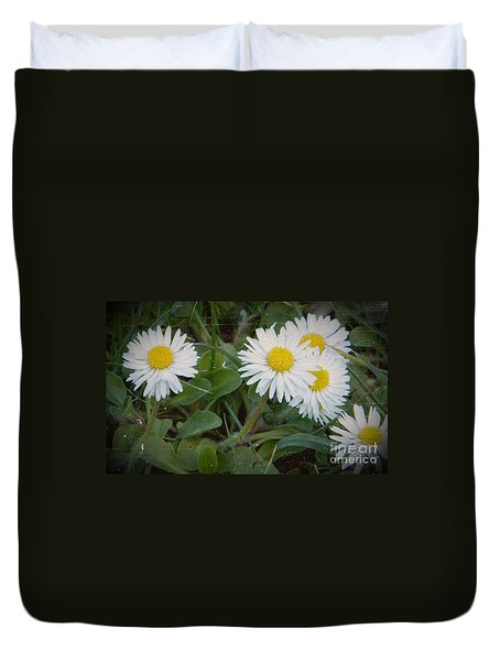 Tiny Daisies Duvet Cover by Chalet Roome-Rigdon