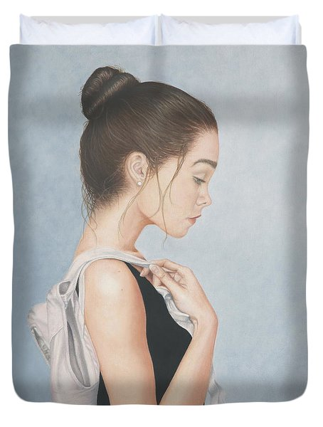 Tiny Dancer Duvet Cover by Dee Dee  Whittle