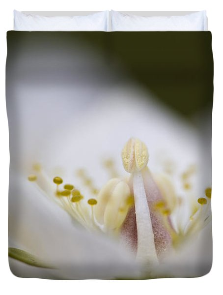 Tiny Little Arctic Wildflower Duvet Cover by Heiko Koehrer-Wagner
