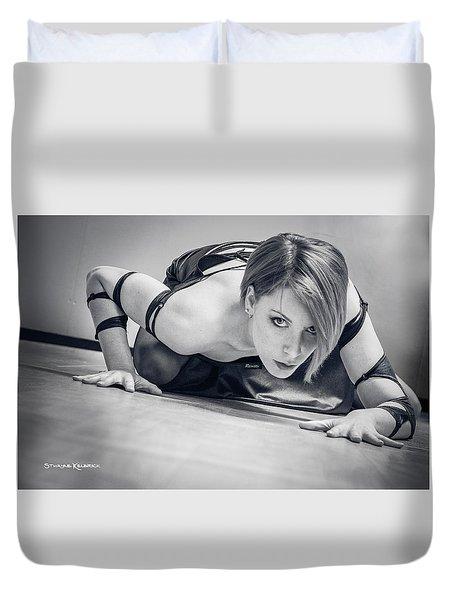 Duvet Cover featuring the photograph Tiphanie Model by Stwayne Keubrick