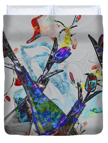 Tippy Tulips Duvet Cover by Liane Wright