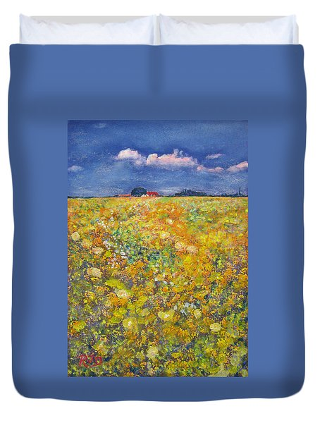 tiptoe Through Summer Meadow Duvet Cover by Richard James Digance
