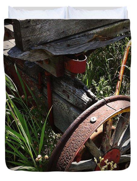 Duvet Cover featuring the photograph Tireless by Meghan at FireBonnet Art