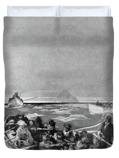 Titanic Lifeboat, 1912 Duvet Cover