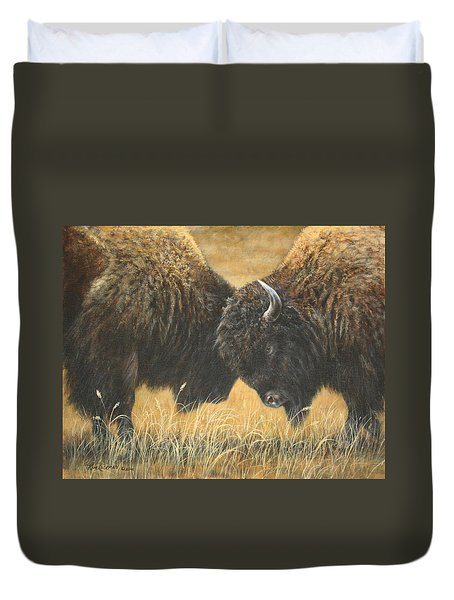 Titans Of The Plains Duvet Cover