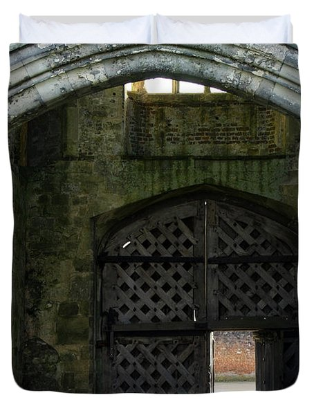 Titchfield Abbey Gatehouse Duvet Cover by Terri Waters