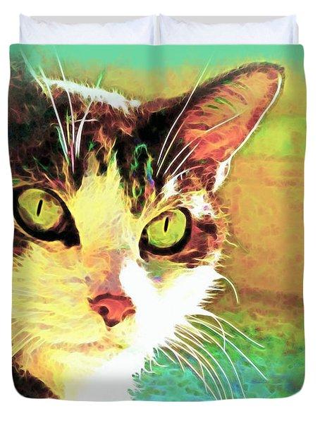 Tj In The Sun Duvet Cover by Joan  Minchak