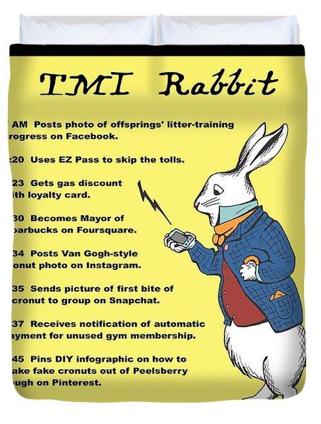 Tmi Rabbit Duvet Cover