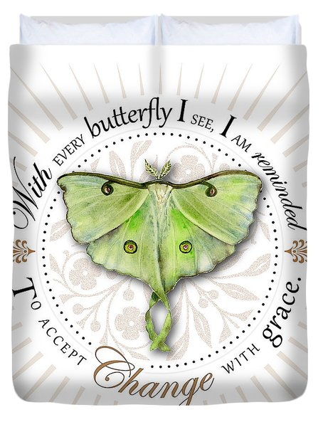 To Accept Change With Grace Duvet Cover by Amy Kirkpatrick