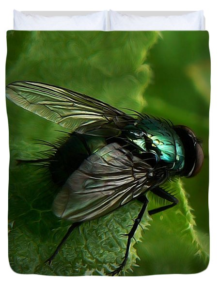 To Be The Fly On The Salad Greens Duvet Cover