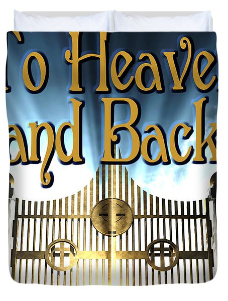 To Heaven And Back Book Cover Duvet Cover by Mike Nellums