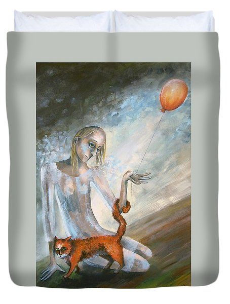 To Hold On The Ground Duvet Cover by Elisheva Nesis