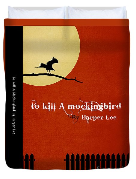To Kill A Mockingbird Book Cover Movie Poster Art 1 Duvet Cover by Nishanth Gopinathan