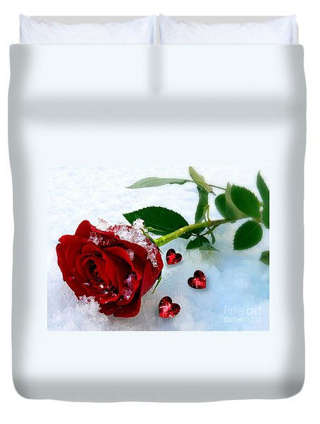 To Make You Feel My Love Duvet Cover by Morag Bates