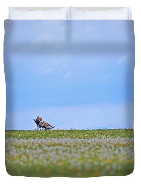 To Relax Duvet Cover by Karol Livote
