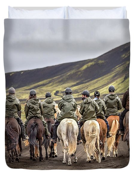 To Ride The Paths Of Legions Unknown Duvet Cover