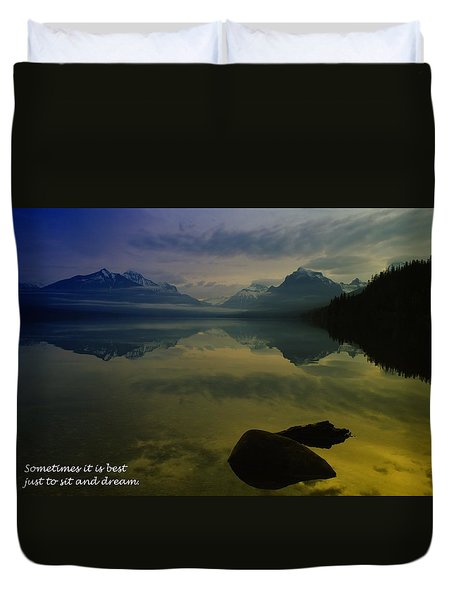 To Sit And Dream Duvet Cover by Jeff Swan