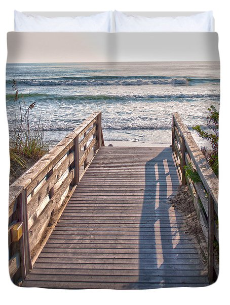 To The Beach Duvet Cover by Paulette B Wright