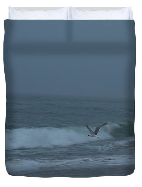 Duvet Cover featuring the photograph To The Galley by Neal Eslinger