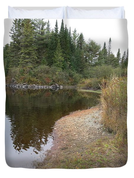 To The River Duvet Cover by Jean Macaluso