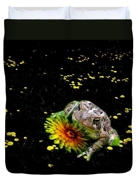 Toad In A Lions Den Duvet Cover