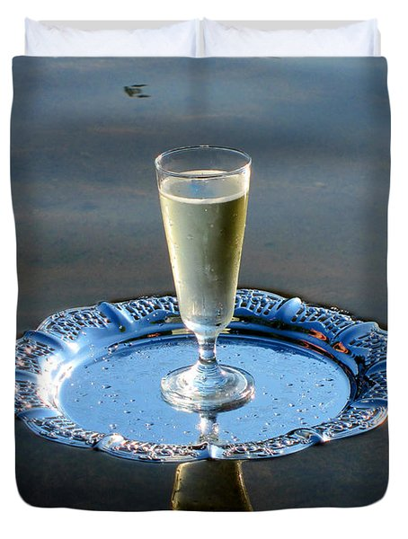 Duvet Cover featuring the photograph Toast To Life by Leena Pekkalainen