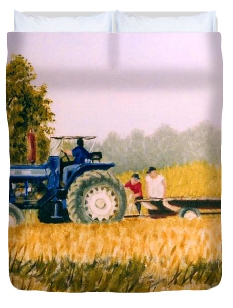 Tobacco Farmers Duvet Cover by Stacy C Bottoms