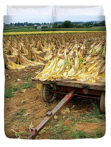 Tobacco Harvest Duvet Cover