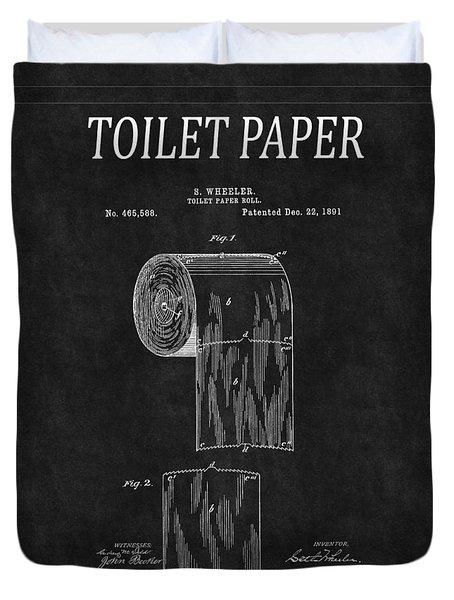 Toilet Paper Patent 2 Duvet Cover