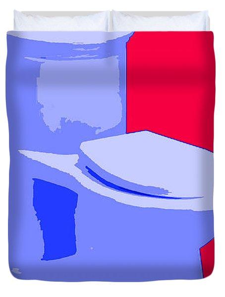 Toilette In Blue Duvet Cover