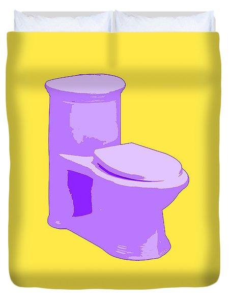 Toilette In Purple Duvet Cover