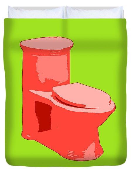 Toilette In Red Duvet Cover