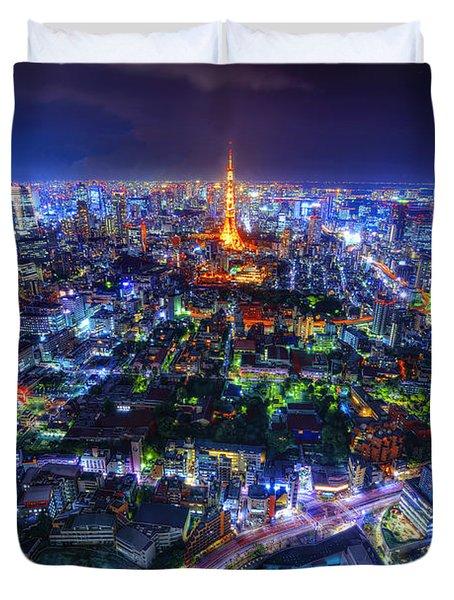 Tokyo Dreamscape Duvet Cover