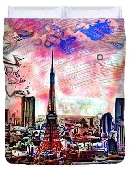 Tokyo Metropolis Duvet Cover