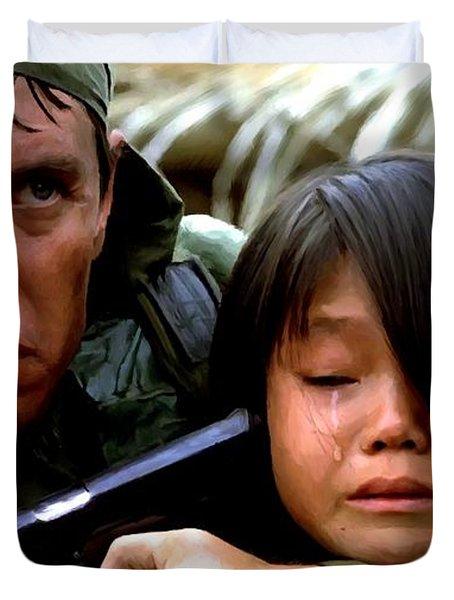 Tom Berenger In The Film Platoon - 1 Duvet Cover