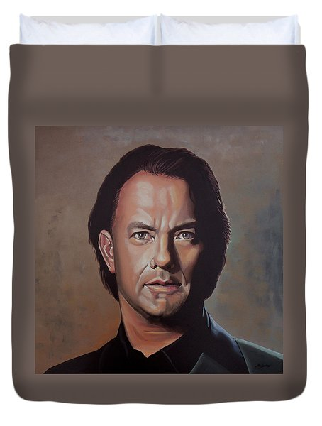 Tom Hanks Duvet Cover by Paul Meijering