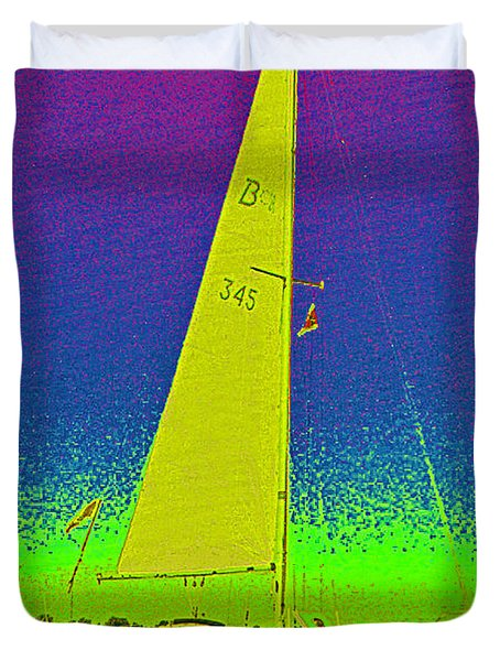 Tom Ray's Sailboat Duvet Cover by First Star Art