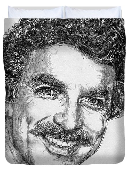 Tom Selleck In 1984 Duvet Cover
