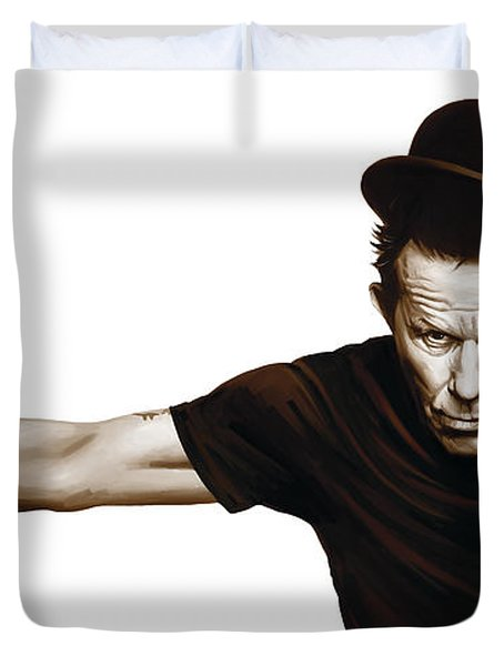 Tom Waits Artwork  4 Duvet Cover by Sheraz A